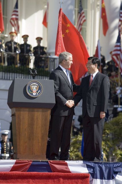 April 20, 2006: Chinese Flag Flies at the White House